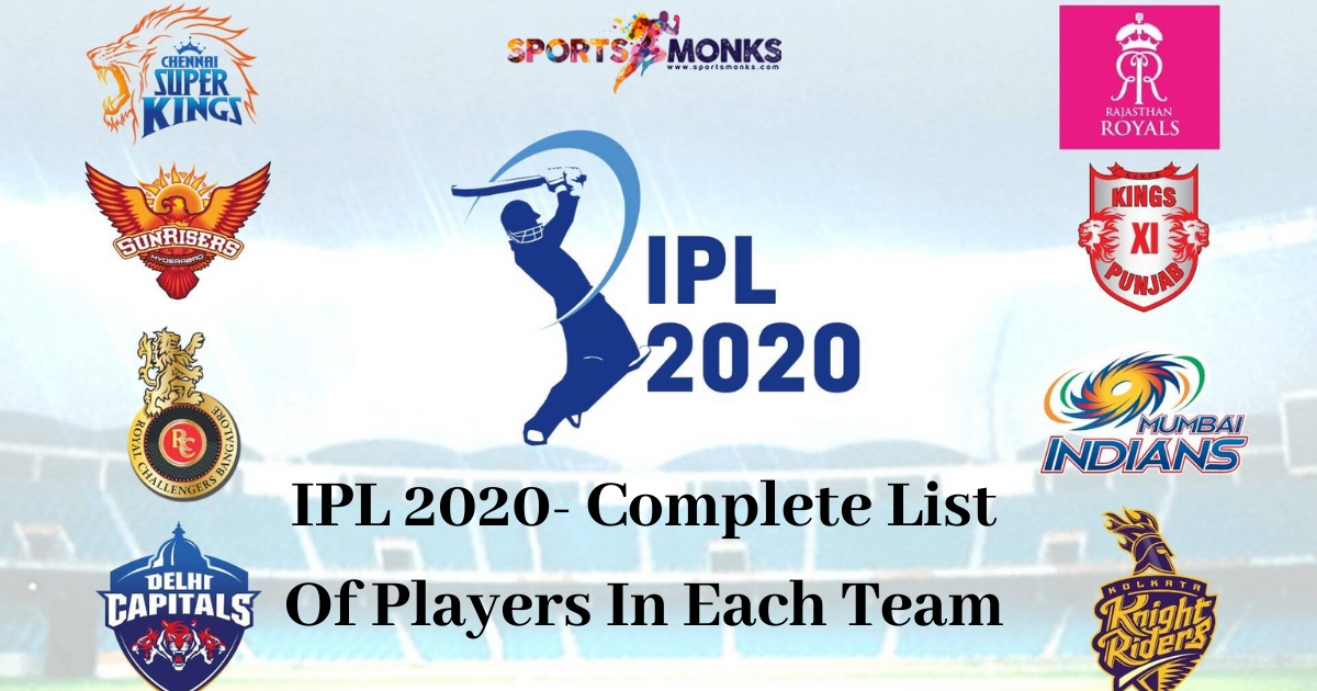 Complete List Of All 8 Teams After Ipl 2020 Auctions Sports Monks